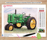Green tractor - Diamond Art Kit