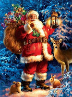 Santa with animals
