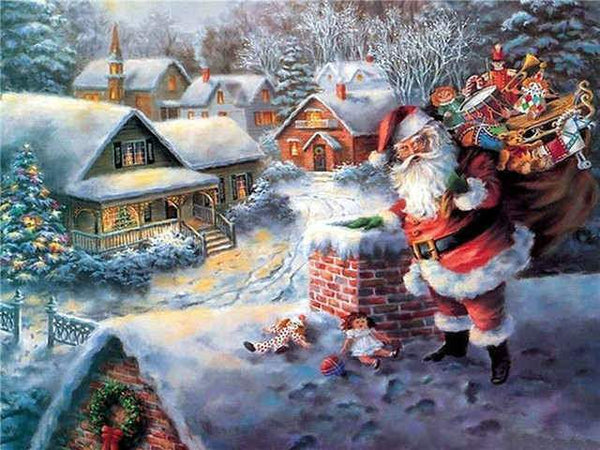 Santa's at the chimney