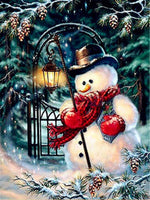 Snowman With Lamp