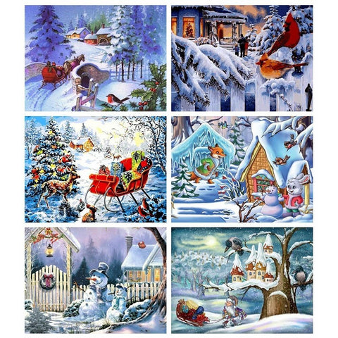 Christmas Landscape Diamond Art Collection 1