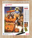 Halloween Cats and Dogs - Halloween Collection Diamond Art