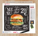 Hamburger Menu Blackboard - Diamond Art Kit