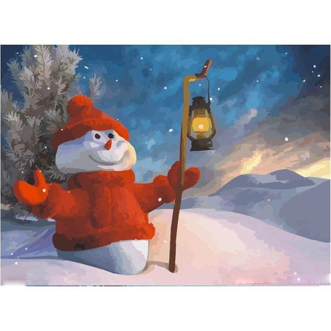 Happy Snowman - Paint by Numbers Kit
