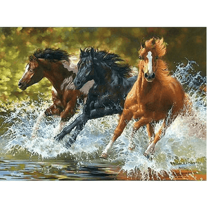 Herd of Horses - Paint by Numbers Kit