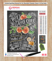 Hot Apple Cider Recipe Blackboard - Diamond Art Kit