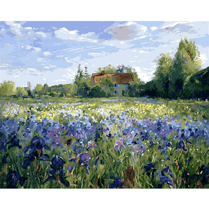 Iris Field - Paint by Numbers Kit