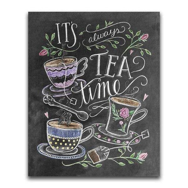 It's Always Tea Time Blackboard - Diamond Art Kit