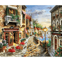 Italian Village with Cobbled Street