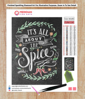 Its All About The Spice Blackboard - Diamond Art Kit
