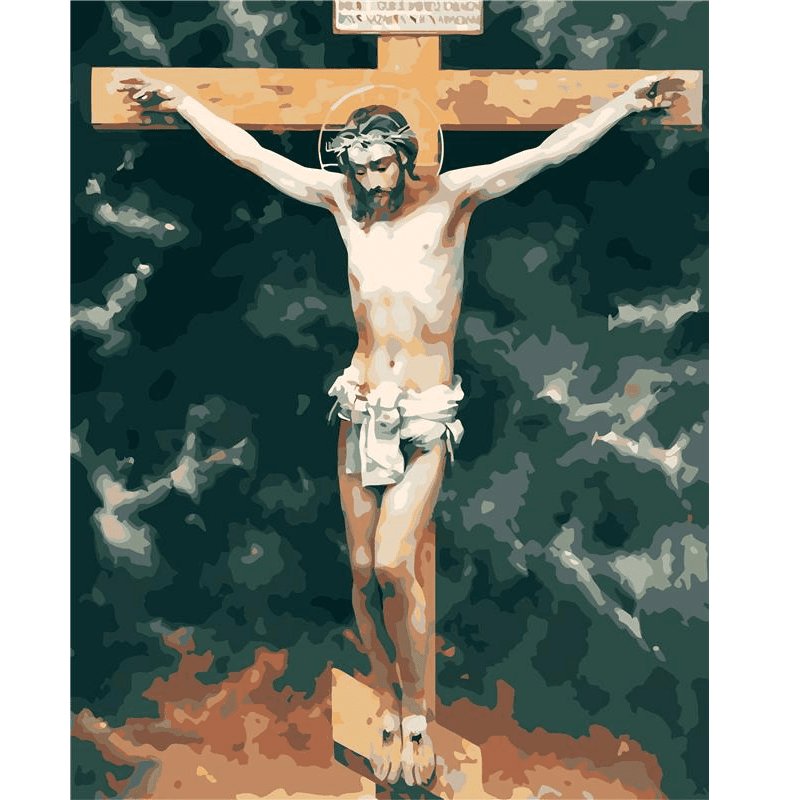 Jesus on the Cross - Paint by Numbers Kit