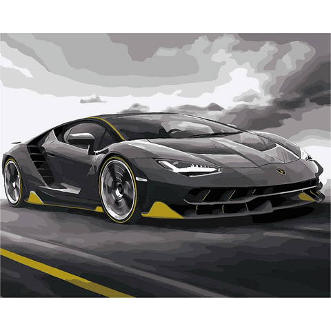 Lamborghini Centenario Sports Car - Paint by Numbers Kit