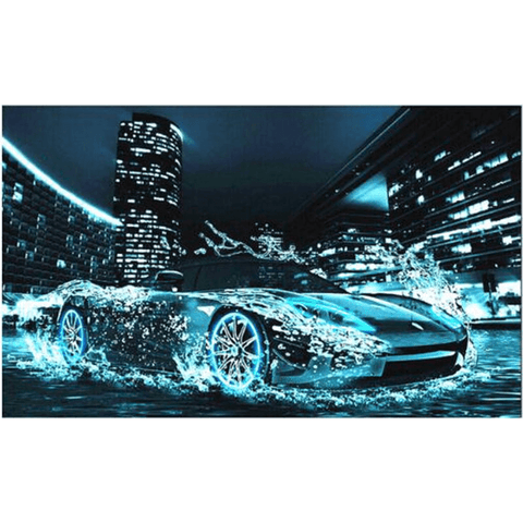 Lightning Fast Supercar - Diamond Art Kit