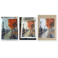 London Southbank in Autumn painted picture