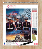 Marine Corps - Diamond Art Kit