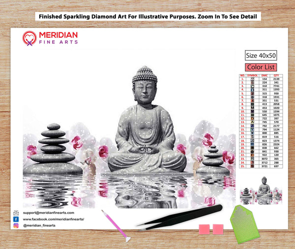 Meditating Buddha - Diamond Art Kit