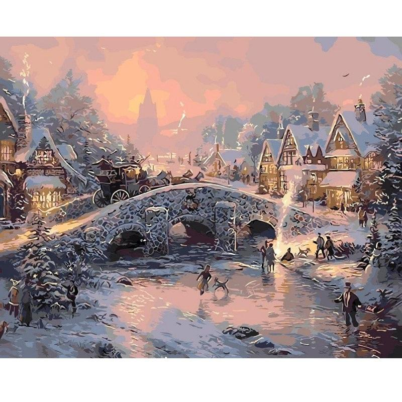 Merry Christmas Village - Paint by Numbers Kit