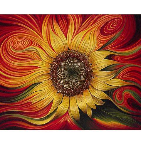 Mesmerized by a Sunflower - Diamond Art Kit