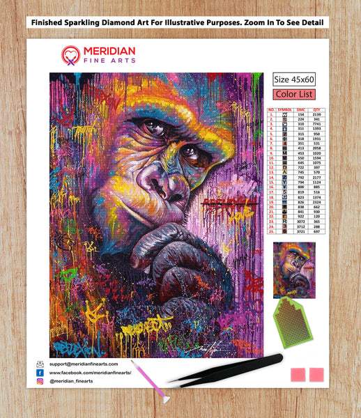Monkey Cool - Diamond Art Kit