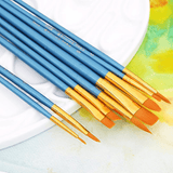 Paintbrushes for acrylic, watercolor, oil and gouache painting