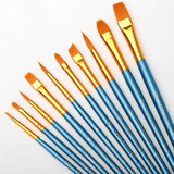 Multi-functional 10 Pieces Paint Brush for Watercolors, Oils, Acrylics and Gouache