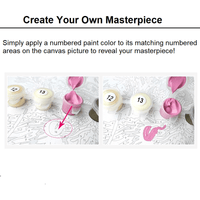 Painting picture using Meridian Paint by Numbers kit