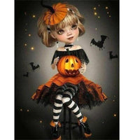 Pumpkin Girl - Halloween Collection Diamond Art