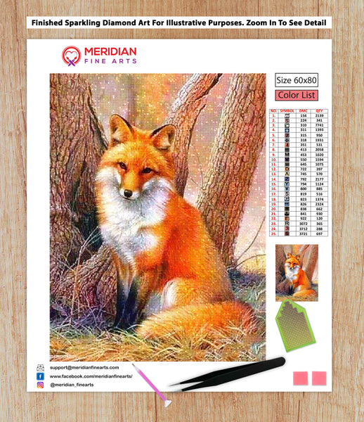 Red Fox - Diamond Art Kit