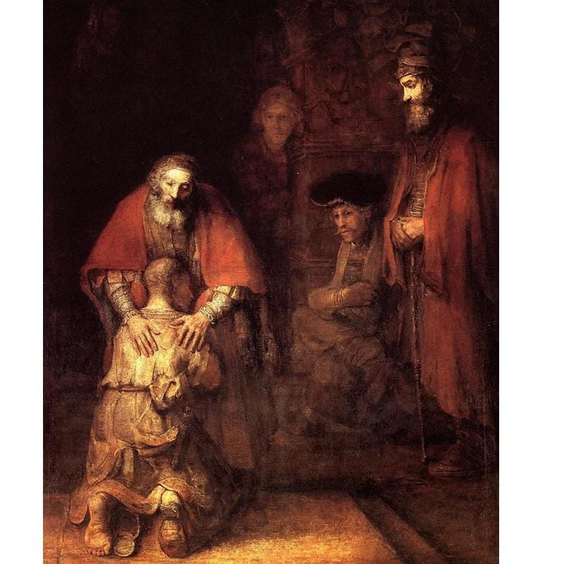 The Return of the Prodigal Son by Rembrandt, 1662-1669 - Diamond Art Kit