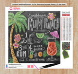 Rum Punch Recipe Blackboard - Diamond Art Kit