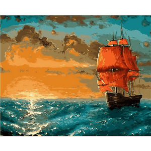 Sail Away Into The Sunset - Paint by Numbers Kit