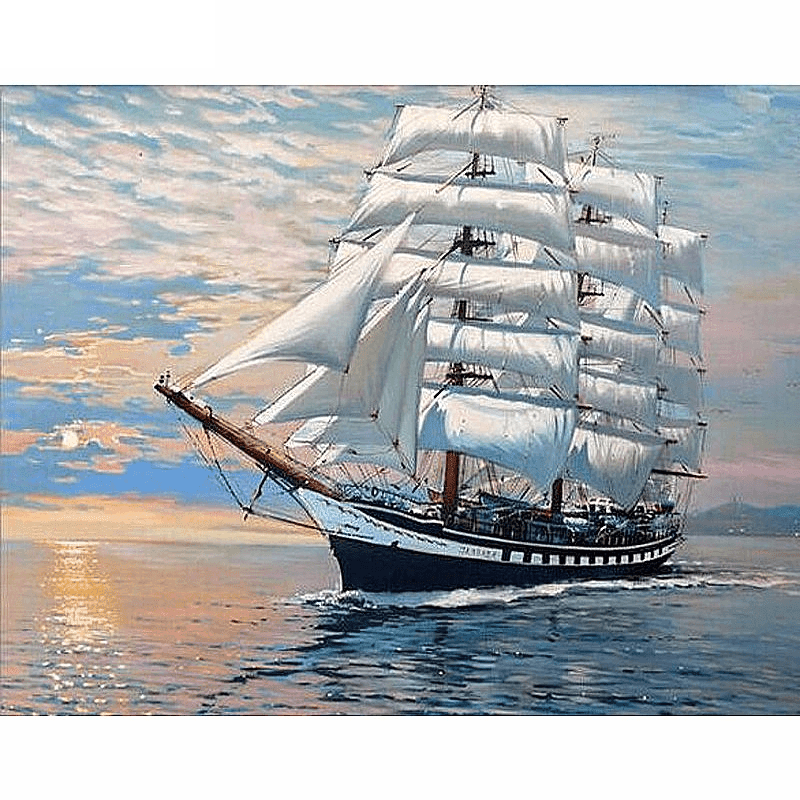 Sailing Ship - Diamond Art Kit