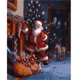 Santa Caught In The Act - Paint by Numbers Kit