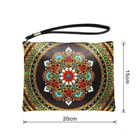 Small Leather Clutch Bag With Wristlet Size - Diamond Painting