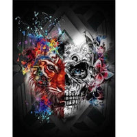 Skull and Tiger - Halloween Collection Diamond Art