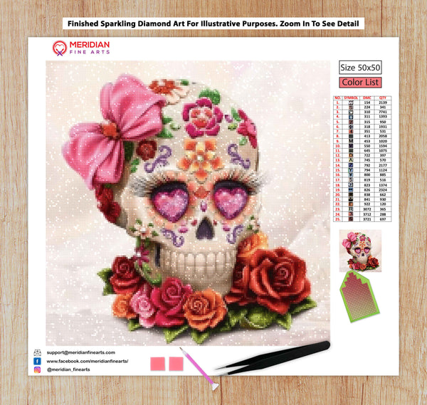 Skull and Roses - Diamond Art Kit