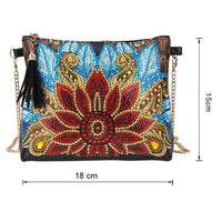 Small Leather Crossbody Bag With Chain Size - Diamond Painting