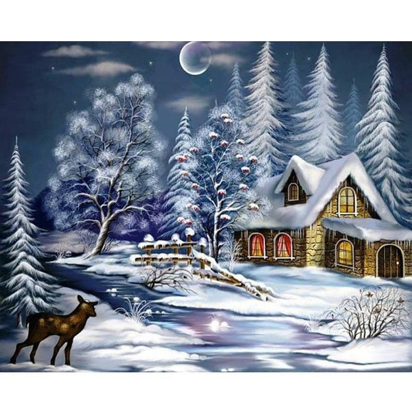 Snowy Christmas Cottage