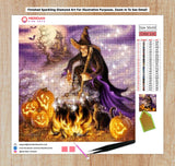 Spell Casting Witch - Diamond Art Kit