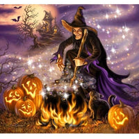 Spell Casting Witch Diamond Art