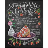 Strawberry Shortcake Recipe Blackboard - Diamond Art Kit
