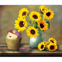 Sunflowers in Vase - Diamond Art Kit