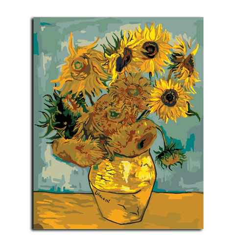 Sunflowers by Vincent van Gogh, 1888 - Paint by Numbers Kit