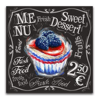 Sweet Dessert On Menu Blackboard - Diamond Art Kit