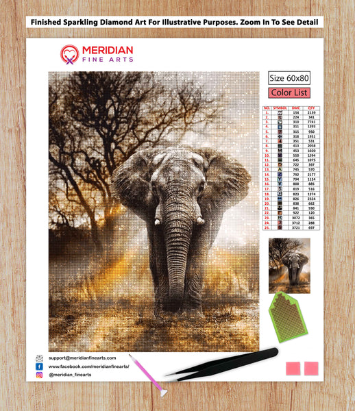 The Mighty Elephant - Diamond Art Kit