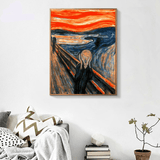 The Scream by Edvard Munch in Living Room