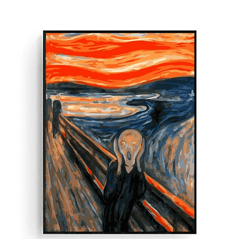 The Scream by Edvard Munch, 1893 - Paint by Numbers Kit