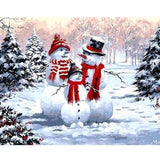 Three Happy Snowmen - Paint by Numbers Kit