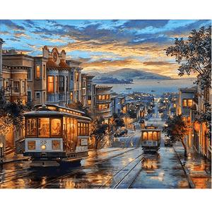 Trams in San Francisco - Paint by Numbers Kit