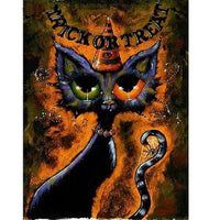 Trick or Treat Kitty Diamond Art
